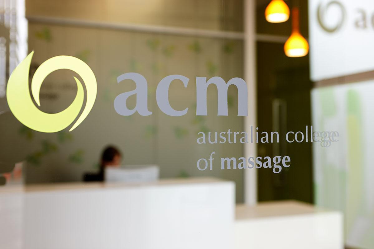 australian-college-of-massage-glass-brand